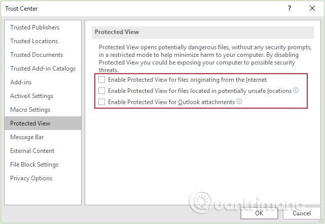 Protected View là gì? Bật, tắt tính năng Protected View trong Office 2016