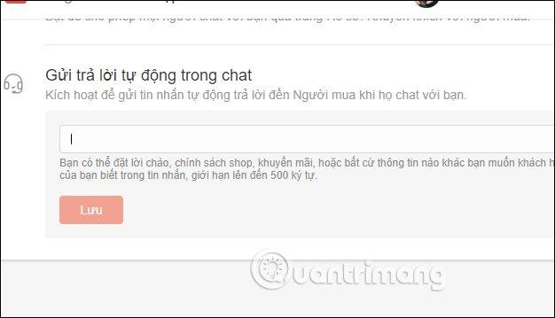 Cách trả lời tin nhắn tự động trên Shopee