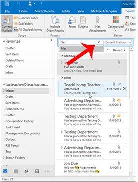 Tìm kiếm email dễ dàng trong Outlook
