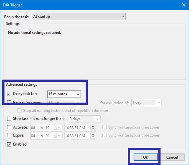Cách trì hoãn khởi động OneDrive trên Windows 10/8/7