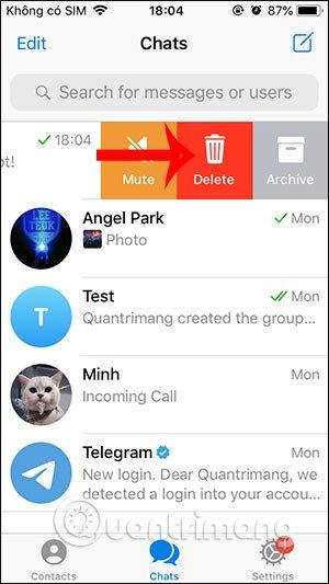 Cách chat tự hủy trên Telegram