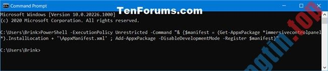Cách reset ứng dụng Settings trong Windows 10