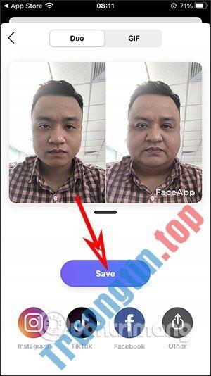 Cách làm béo mặt bằng app FaceApp
