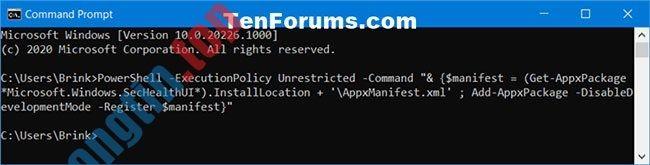 Cách reset ứng dụng Windows Security trong Windows 10