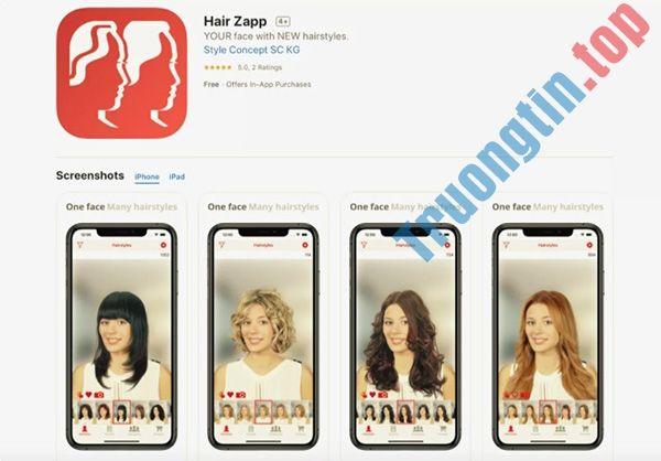 Các ứng dụng thay đổi kiểu tóc trên điện thoại