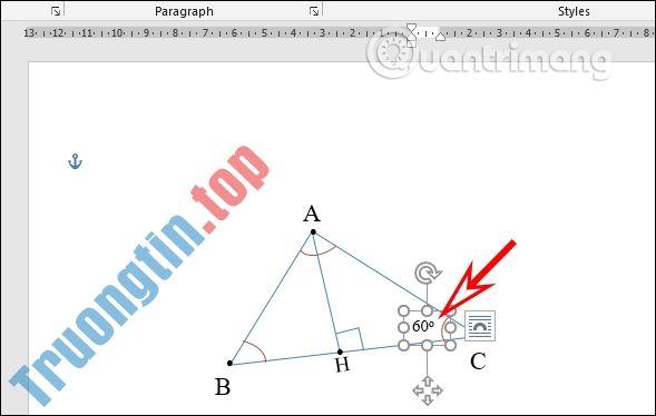 Cách vẽ hình trong Word, vẽ hình học trong Word