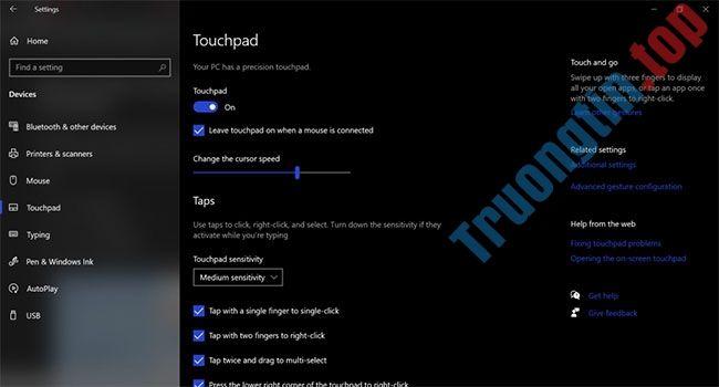 Cách kiểm tra xem laptop có hỗ trợ Precision Touchpad không