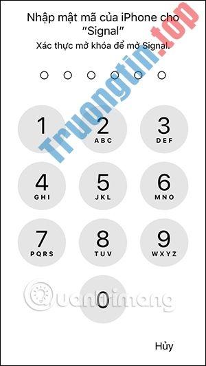 Cách khóa màn hình Signal bảo mật tin nhắn