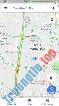 Cách xem tắc đường trên Google Traffic, xem mật độ giao thông