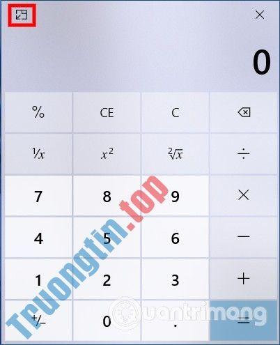 Cách ghim máy tính Calculator trên màn hình Windows 10 để luôn nổi trên ứng dụng khác