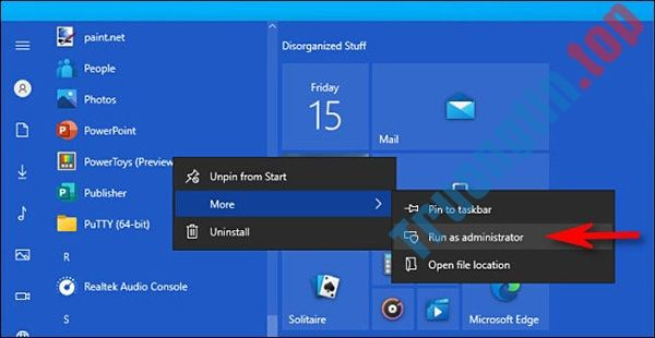 """""""Run as Administrator"""" trên Windows 10 là gì?"""