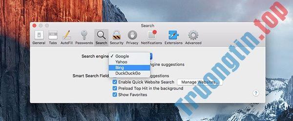 Thủ thuật thay đổi công cụ tìm kiếm trình duyệt Safari