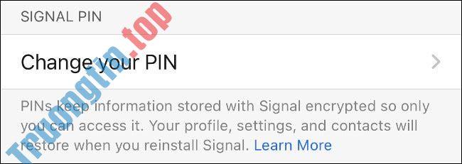 Cách bật Registration Lock trong Signal