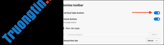 Cách ẩn nút Vertical Tabs (tab dọc) trên Microsoft Edge