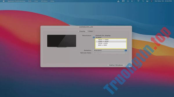 Cách cài đặt 2 màn hình trên máy tính Mac