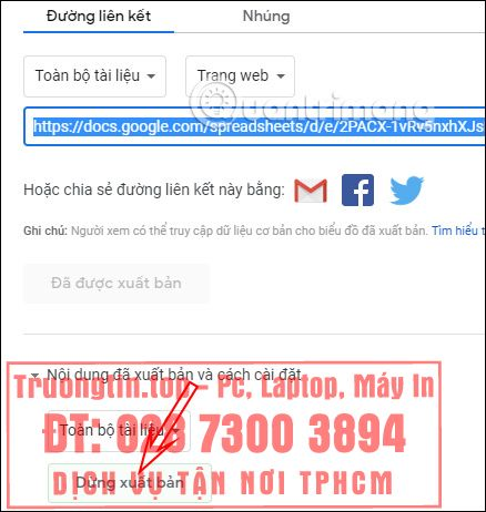 Cách mở link trong Google Sheets bằng 1 lần click chuột