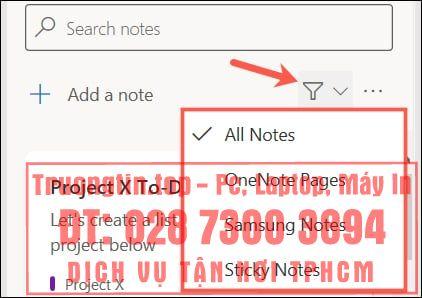 Cách sử dụng nguồn cấp dữ liệu trong OneNote
