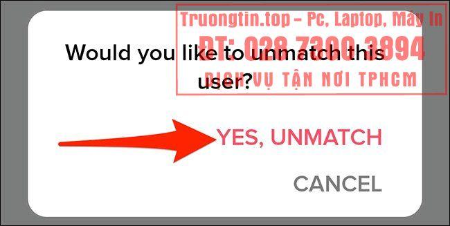 Cách unmatch trên Tinder