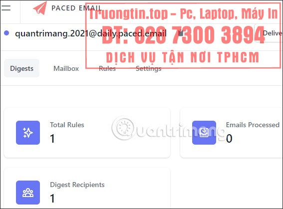 Cách dùng Paced Email tạo email ảo