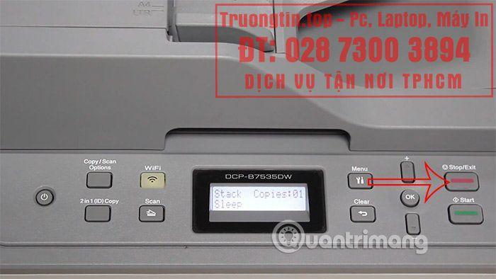 Cách cài WiFi trên máy in Brother DCP-B7535DW