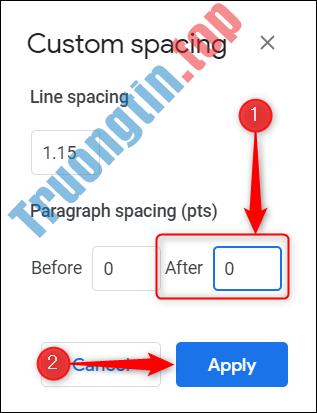 Cách xóa một trang trong Google Docs